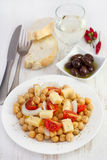 Chick pea salad with cheese Stock Image