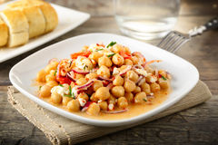 Chick pea salad Stock Photography
