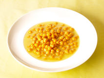 Chick pea soup. Delicious chick pea soup on dining table Stock Image