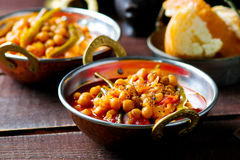Chick-pea stewed with haricot and a tomato on Lebanese Royalty Free Stock Photography