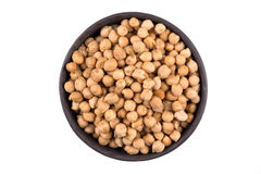 Chick pea on white background Stock Image