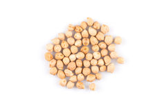 Chick pea on white background Stock Images