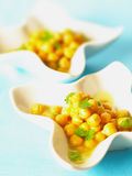 Chick peas. Close up of chick peas appetizer Royalty Free Stock Photos