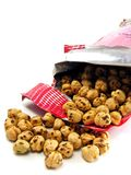 Chick peas in a bag Royalty Free Stock Images