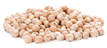 Chick Peas isolated on white Royalty Free Stock Images