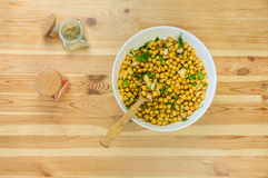 Chick peas in large bowl Stock Photo