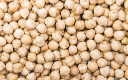 Chick Peas (macro tir) Photos stock