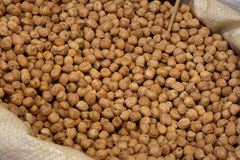 Chick peas in the market Stock Photos