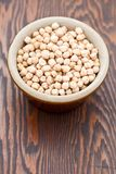 Chick peas in a pot bowl Stock Image