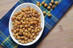 Chick Peas rôti en bonne santé Photographie stock