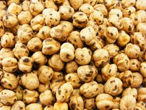 Chick peas roasted background Stock Images