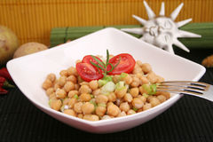 Chick peas salad Royalty Free Stock Photos