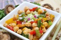 Chick peas salad Stock Photos