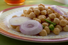 Chick Peas salad Stock Photography