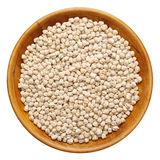 Chick peas on wooden plate Royalty Free Stock Photography