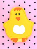 Chick Springtime Cookie Stock Images
