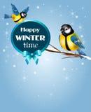 Chickadee zimy czas ilustracji