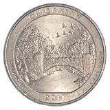 The Chickasaw National Recreation Area Quarter coin Royalty Free Stock Photo