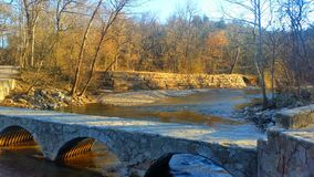 Chickasaw national recreation area. Rock creek in winter Royalty Free Stock Images