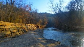 Chickasaw national recreation area. Rock creek winter Royalty Free Stock Photography