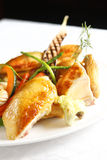 Chicken. Meal on the dish Stock Images