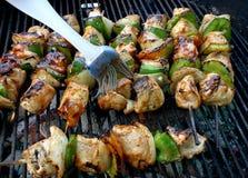 Chicken. Good chicken sticks on bbq Stock Photography