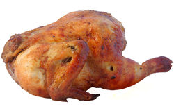 Chicken. Baked in грилле on a white background Stock Images