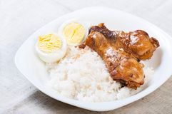 Chicken adobo with eggs Stock Photography