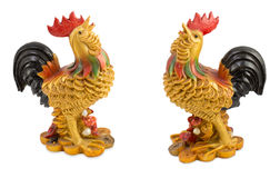 Chicken adorned with gold. According to the beliefs of the merchants in the market of Thailand Royalty Free Stock Images