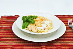 Chicken Alfredo Stock Images