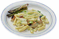 Chicken Alfredo Meal Stock Photos