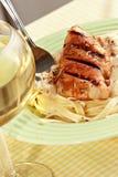 Chicken Alfredo pasta dinner Royalty Free Stock Photos