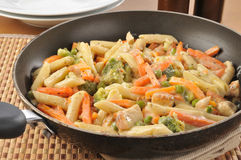 Chicken alfredo stir fry Royalty Free Stock Photo