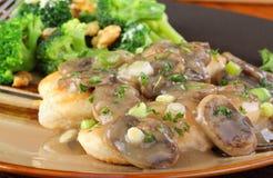 Chicken And Mushroom Gravy Closeup Royalty Free Stock Image