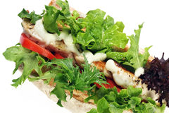 Free Chicken And Salad Baguette Stock Images - 4928084