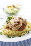 Chicken And Spaghetti Meal Royalty Free Stock Photos