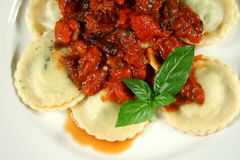 Chicken And Spinach Ravioli Royalty Free Stock Images