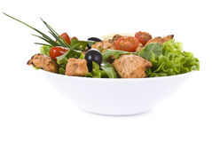 Chicken And Vegetable Salad Royalty Free Stock Photo