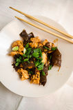 Chicken And Wood Ear Mushrooms Dish Stock Photography