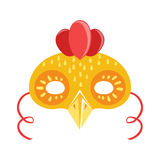 Chicken Animal Head Mask, Kids Carnival Disguise Costume Element stock illustration
