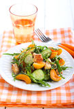 Chicken, apricot, rocket and cucumber salad Stock Image