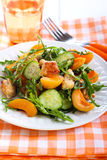 Chicken, apricot, rocket and cucumber salad Stock Images