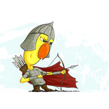 Chicken archer ready to action Stock Photography