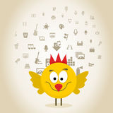 Chicken art Royalty Free Stock Images