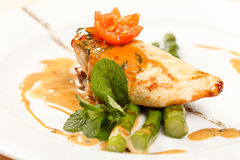 Chicken with asparagus Royalty Free Stock Photography