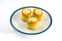 Chicken and Asparagus Vol-au-vent Royalty Free Stock Images