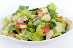 Chicken avocado salad Royalty Free Stock Photos