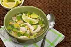 Chicken Avocado Soup stock photos