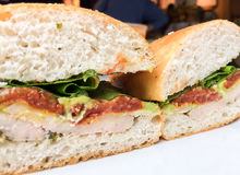 Chicken Avocado with Wasabi Sandwiches cafe Stock Photos