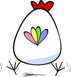 Chicken from back. Vector illustration of chicken from back side Royalty Free Stock Photo